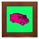 Food Truck: Basic (Pink) Framed Tile