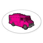 Food Truck: Basic (Pink) Sticker (Oval 50 pk)