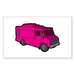 Food Truck: Basic (Pink) Sticker (Rectangle 50 pk)