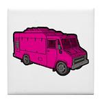 Food Truck: Basic (Pink) Tile Coaster