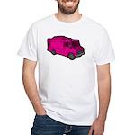 Food Truck: Basic (Pink) White T-Shirt