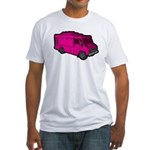 Food Truck: Basic (Pink) Fitted T-Shirt