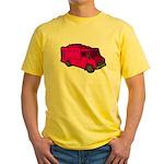 Food Truck: Basic (Pink) Yellow T-Shirt