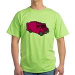 Food Truck: Basic (Pink) Green T-Shirt