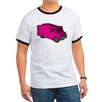 Food Truck: Basic (Pink) Ringer T