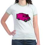Food Truck: Basic (Pink) Jr. Ringer T-Shirt