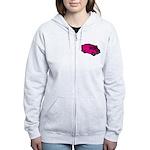 Food Truck: Basic (Pink) Women's Zip Hoodie