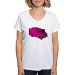 Food Truck: Basic (Pink) Women's V-Neck T-Shirt