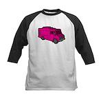 Food Truck: Basic (Pink) Kids Baseball Jersey