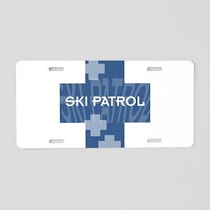 Ski Patrol Aluminum License Plate