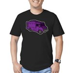 Food Truck: Basic (Purple) Men's Fitted T-Shirt (d