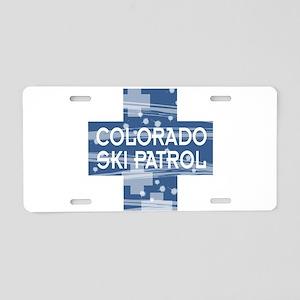 Colorado Ski Patrol Aluminum License Plate