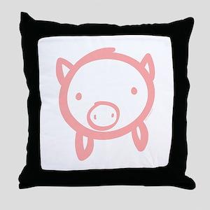 Pig Doodle Throw Pillow