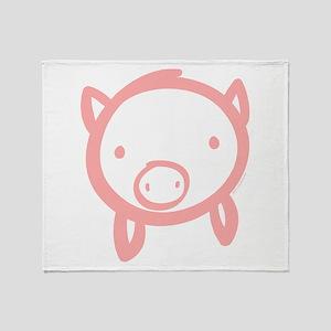 Pig Doodle Throw Blanket