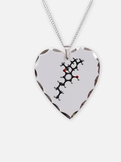 THC Molecule Heart Necklace