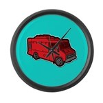 Food Truck: Basic (Red) Large Wall Clock