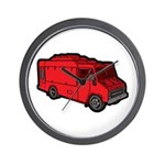 Food Truck: Basic (Red) Wall Clock
