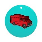 Food Truck: Basic (Red) Ornament (Round)
