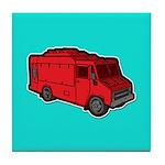 Food Truck: Basic (Red) Tile Coaster