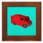 Food Truck: Basic (Red) Framed Tile