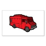 Food Truck: Basic (Red) Sticker (Rectangle 50 pk)