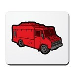 Food Truck: Basic (Red) Mousepad