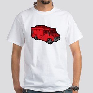Food Truck: Basic (Red) White T-Shirt
