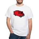 Food Truck: Basic (Red) White T-Shirt