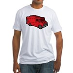 Food Truck: Basic (Red) Fitted T-Shirt