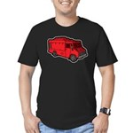 Food Truck: Basic (Red) Men's Fitted T-Shirt (dark