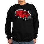 Food Truck: Basic (Red) Sweatshirt (dark)