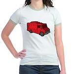 Food Truck: Basic (Red) Jr. Ringer T-Shirt