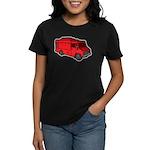 Food Truck: Basic (Red) Women's Dark T-Shirt