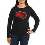Food Truck: Basic (Red) Women's Long Sleeve Dark T