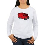 Food Truck: Basic (Red) Women's Long Sleeve T-Shir