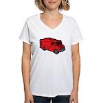 Food Truck: Basic (Red) Women's V-Neck T-Shirt