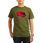 Food Truck: Basic (Red) Organic Men's T-Shirt (dar