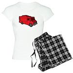 Food Truck: Basic (Red) Women's Light Pajamas