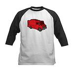 Food Truck: Basic (Red) Kids Baseball Jersey
