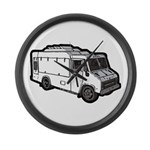 Food Truck: Basic (White) Large Wall Clock