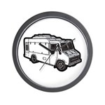 Food Truck: Basic (White) Wall Clock
