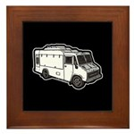 Food Truck: Basic (White) Framed Tile