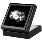 Food Truck: Basic (White) Keepsake Box