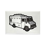 Food Truck: Basic (White) Rectangle Magnet (10 pac