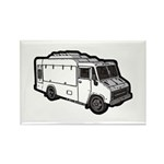Food Truck: Basic (White) Rectangle Magnet (100 pa