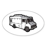 Food Truck: Basic (White) Sticker (Oval 10 pk)