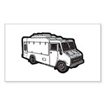 Food Truck: Basic (White) Sticker (Rectangle 10 pk