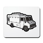 Food Truck: Basic (White) Mousepad