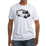 Food Truck: Basic (White) Fitted T-Shirt