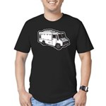 Food Truck: Basic (White) Men's Fitted T-Shirt (da